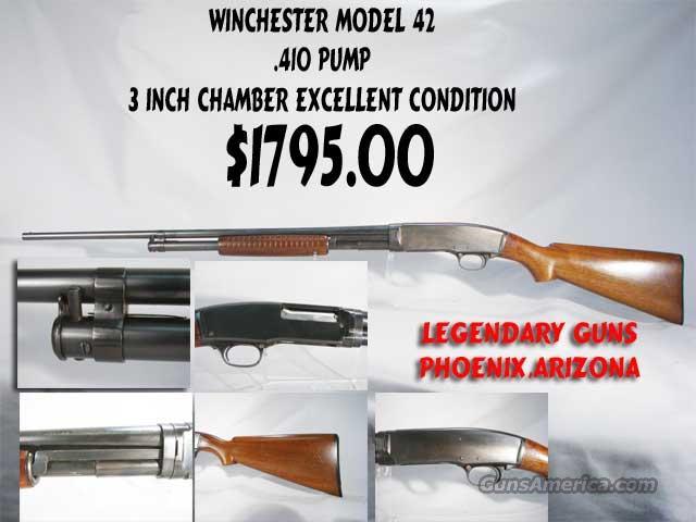 Model 41,.410 Pump 3inch Chamber  Guns > Shotguns > Winchester Shotguns - Modern > Pump Action > Trap/Skeet
