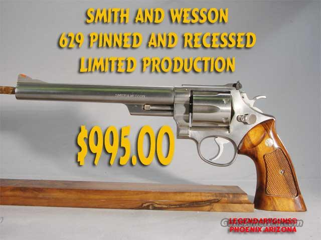 S&W M-629 .44 mag Pinned & Recessed  Guns > Pistols > Smith & Wesson Revolvers > Model 629