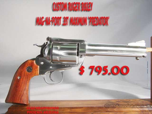 Custom Ruger Bisley .357 Maximum  Guns > Pistols > Ruger Single Action Revolvers > Blackhawk Type
