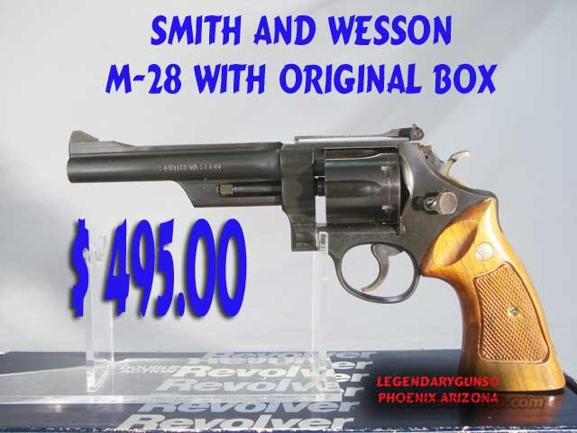 S&W M-28 .357 USED WITH BOX  Guns > Pistols > Smith & Wesson Revolvers > Full Frame Revolver