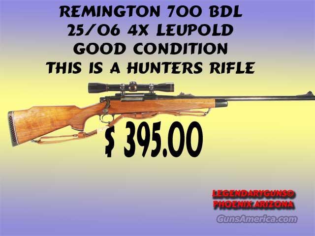 Remington 700 BDL 25/06 W/ Leupold 4x  Guns > Rifles > Remington Rifles - Modern > Model 700 > Sporting