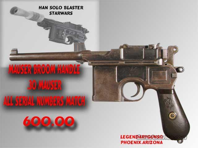 Mauser Broomhandle .30 Mauser  Guns > Pistols > Mauser Pistols
