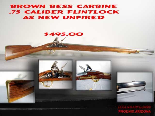 Brown Bess Carbine .75 caliber  Guns > Rifles > Pedersoli Rifles > Flintlock