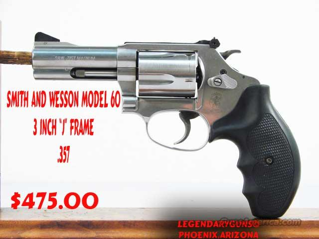 S&W M-60 3inch .357  Guns > Pistols > Smith & Wesson Revolvers > Pocket Pistols