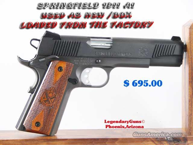 Springfield 1911-A1 As New in Box  Guns > Pistols > Springfield Armory Pistols > 1911 Type