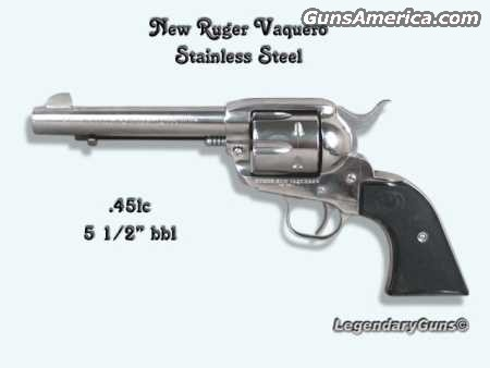 New Vaquero Stainless  Guns > Pistols > Ruger Single Action Revolvers