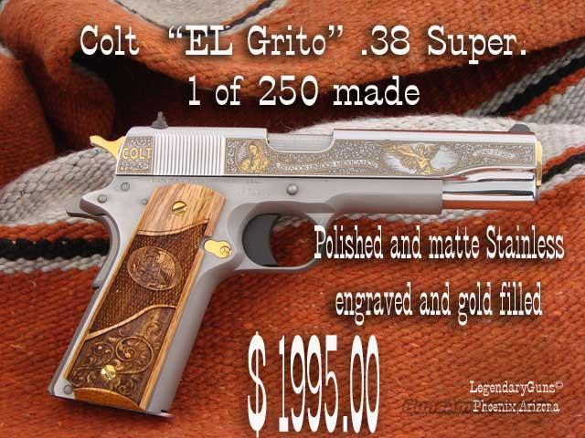 "Colt ""El Grito"" .38 Super Stainless  Guns > Pistols > Colt Commemorative Pistols"