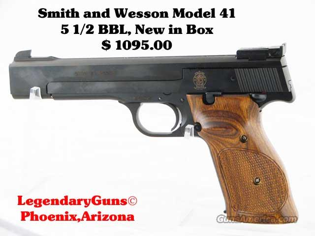 S&W M-41   5 1/2  inch New in box .22LR  Guns > Pistols > Smith & Wesson Pistols - Autos > Buckmark Family