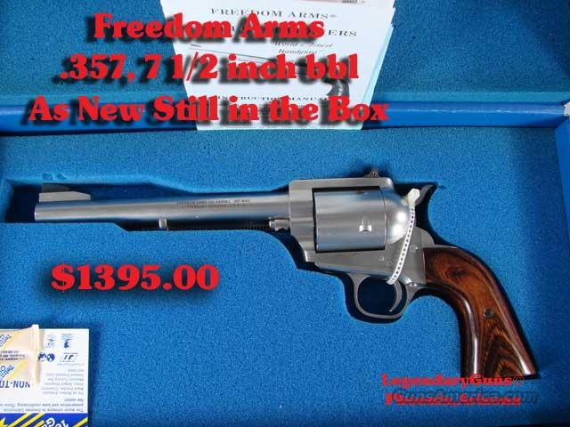 Freedom Arms 7 1/2inch .357 Un Fired  Guns > Pistols > Freedom Arms Pistols