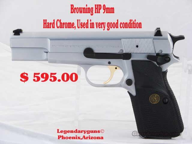 Browning HP 9mm Hard Chrome  Guns > Pistols > Browning Pistols > High Power