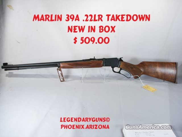 Marlin Golden 39A .22lr Takedown  Guns > Rifles > Marlin Rifles > Modern > Lever Action