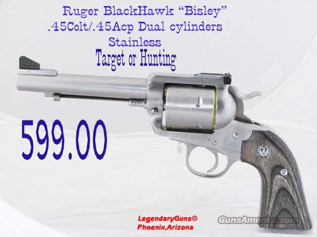 "Ruger Blackhawk ""Bisley"" 45lc/45Acp  Guns > Pistols > Ruger Single Action Revolvers > Blackhawk Type"