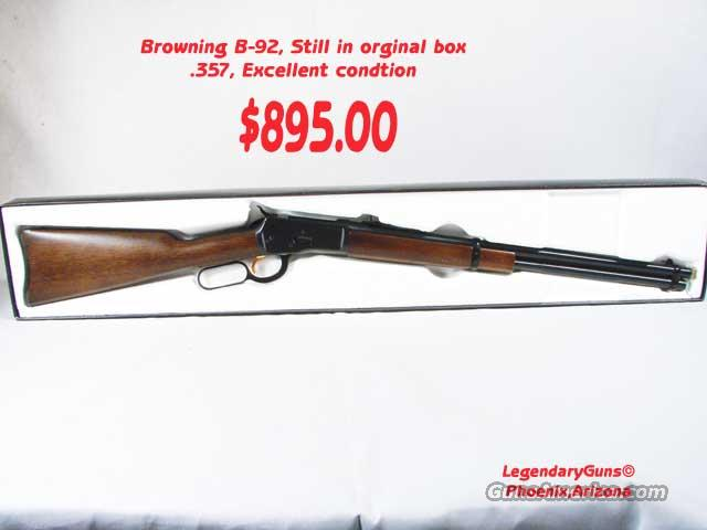 Browning B92 .357 With Box  Guns > Rifles > Browning Rifles > Lever Action