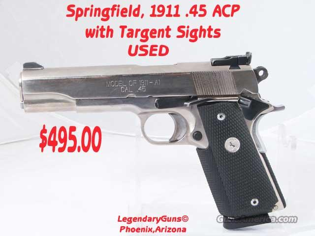 Springfield 1911-A1 Used Stainless  Guns > Pistols > Springfield Armory Pistols > 1911 Type