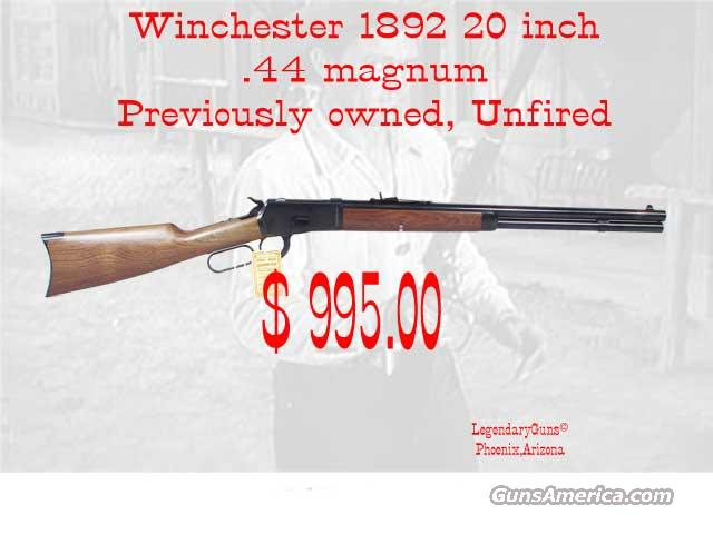 Winchester M 92 .44 Mag  Unfired  Guns > Rifles > Winchester Rifles - Modern Lever > Other Lever > Post-64