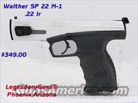 Walther SP 22  M-1  .22LR Target pistol  Walther Pistols > Post WWII > Target Pistols