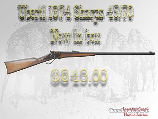 Uberti Sharps 1874 45/70  Guns > Rifles > Uberti Rifles > Single Shot