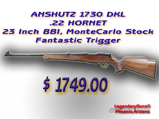 Anshutz Model1730 DKL .22Hornet  Guns > Rifles > Anschutz Rifles