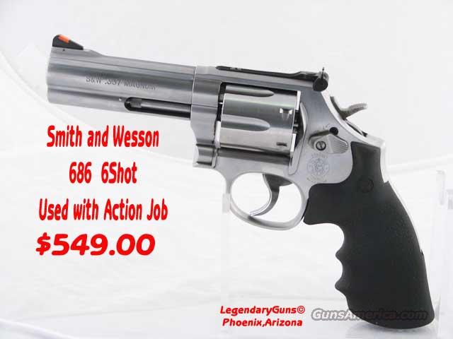 S&W M 686 6 Shot 4 inch W/ActionJob  Guns > Pistols > Smith & Wesson Revolvers > Full Frame Revolver