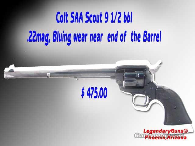 Colt SAA Scout 9 1/2 BBl .22 Mag  Guns > Pistols > Colt Single Action Revolvers - Modern (22 Cal.)