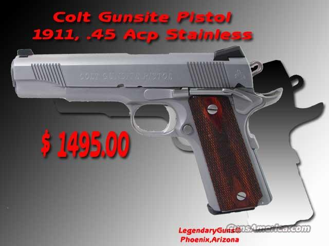 Colt Gunsite 1911 .45ACP Stainless  Guns > Pistols > Colt Automatic Pistols (1911 & Var)
