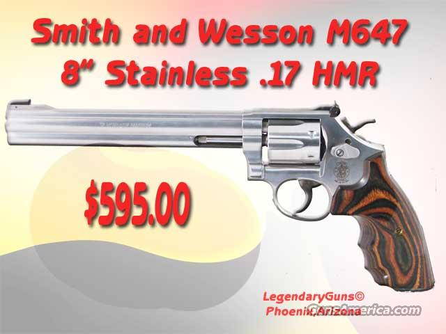 S&W M 647 .17 HMR 8inch Stainless  Guns > Pistols > Smith & Wesson Revolvers > Full Frame Revolver