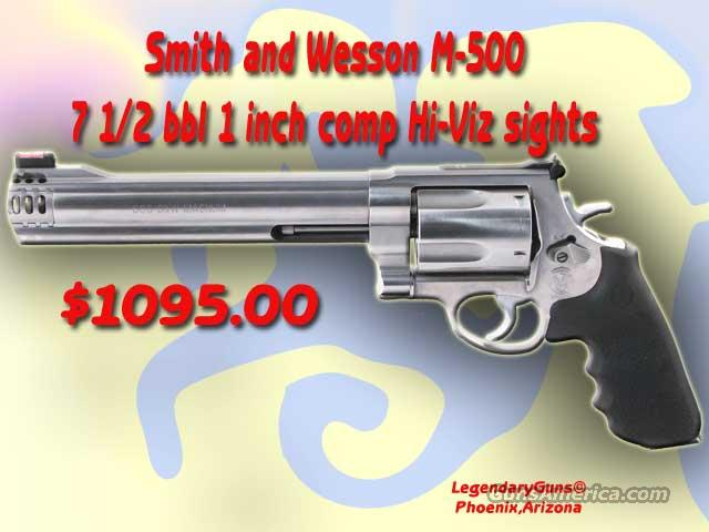 S&W M500 71/2BBL 1inch Comp  Guns > Pistols > Smith & Wesson Revolvers > Full Frame Revolver