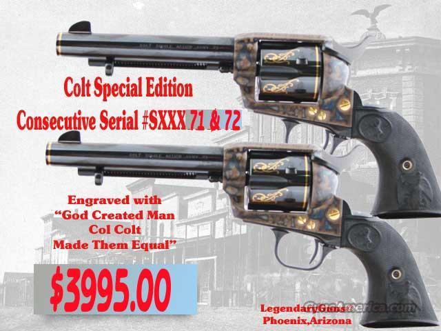 Colt SAA Col. Colt,  Made Man Equal  Guns > Pistols > Colt Commemorative Pistols
