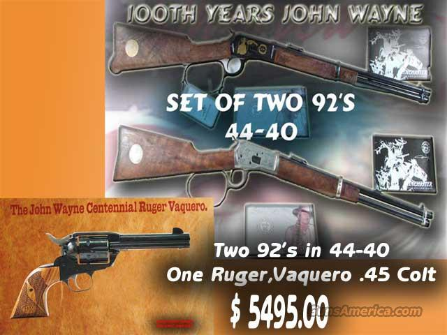 "Winchester ""John Wayne"" Set  Guns > Rifles > Winchester Rifle Commemoratives"