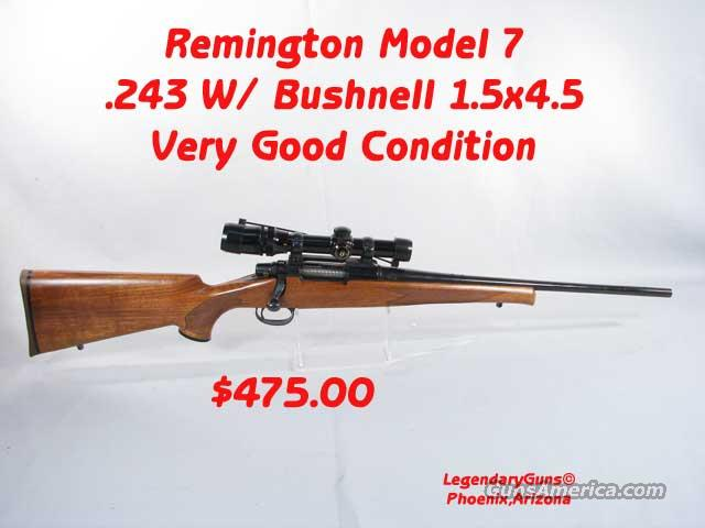 Reminton Model 7  .243 W/Scope  Guns > Rifles > Remington Rifles - Modern > Non-Model 700
