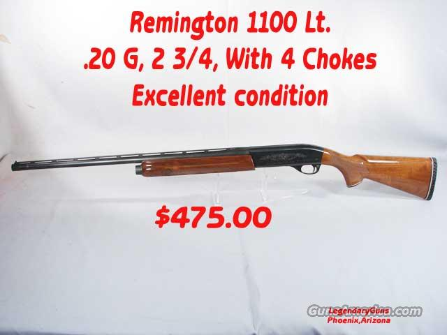 Remington 1100 Lt 20G   2 3/4  Guns > Shotguns > Remington Shotguns  > Autoloaders > Trap/Skeet