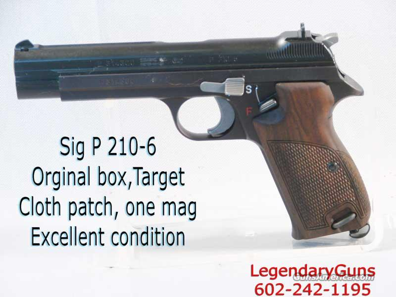 Sig P-210-6 9mm Used As new   Guns > Pistols > Sig - Sauer/Sigarms Pistols > Other
