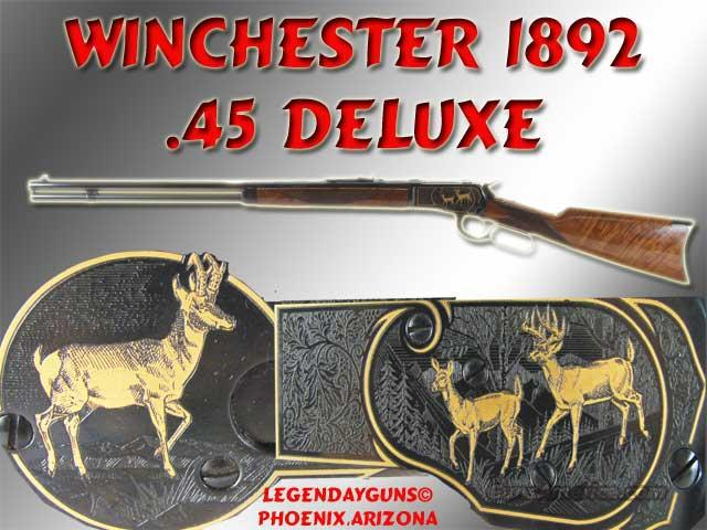 Winchester 1892 Deluxe .45 Engraved  Guns > Rifles > Winchester Rifle Commemoratives