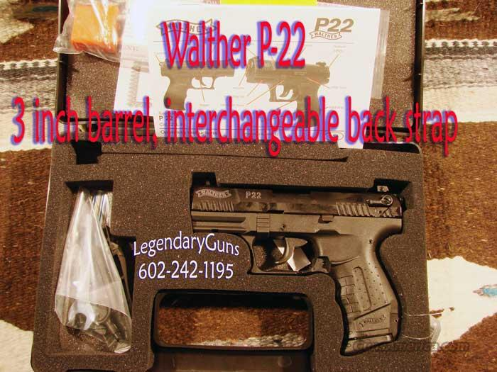 Walther P22 (3) inch bbl  Two Mag Orginal box   Guns > Pistols > Walther Pistols > Post WWII > PP Series