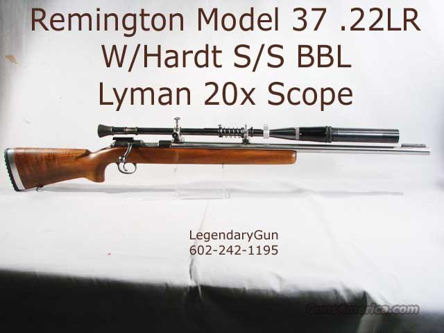Remington M-37 .22LR W Hvy S/S BBL  Guns > Rifles > Remington Rifles - Modern > Non-Model 700