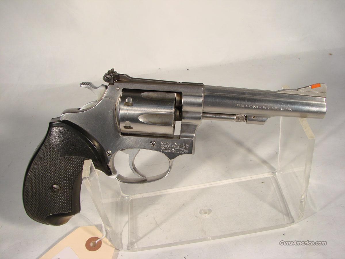 S&W Model 63 Stainless4 inch .22LR  Guns > Pistols > Smith & Wesson Revolvers > Pocket Pistols