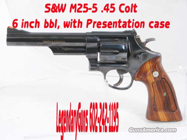 S&W 25-5 Blue .45 LC 6inch With Presentation case  Guns > Pistols > Smith & Wesson Revolvers > Full Frame Revolver