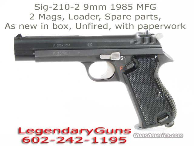 Sig 210-2 Mfg 1985 with box and paperwork  Guns > Pistols > Sig - Sauer/Sigarms Pistols