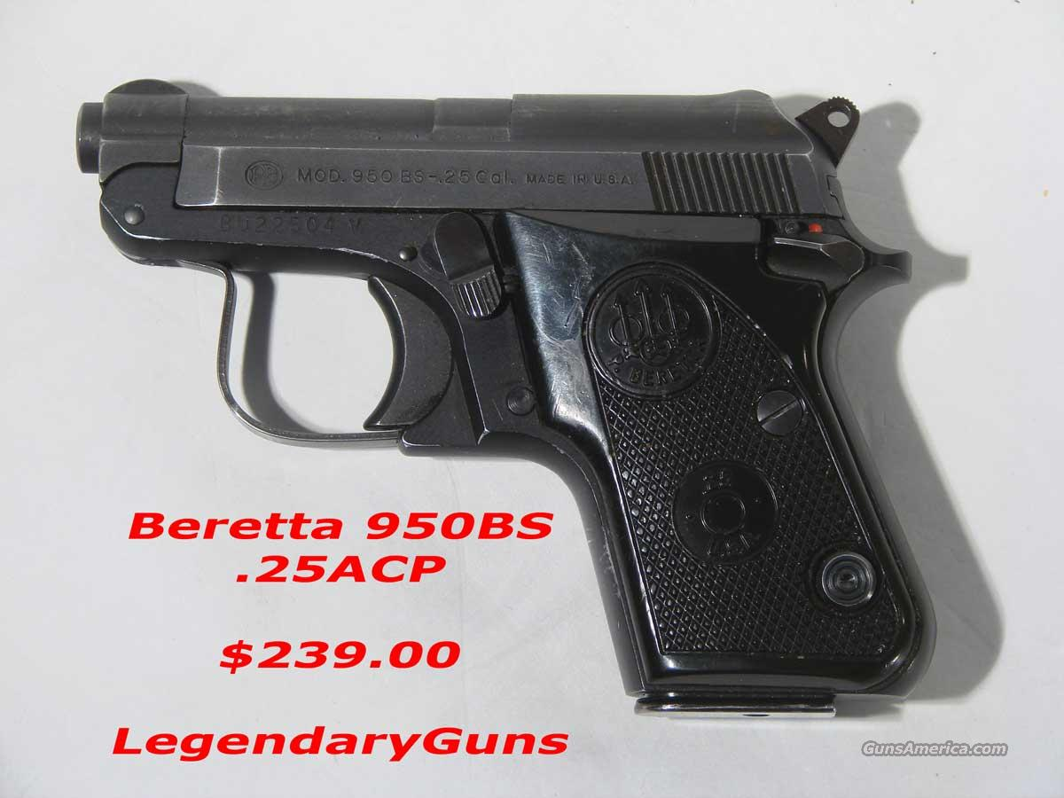 "Beretta ""950BS"" .25 acp In the box  Guns > Pistols > Beretta Pistols > Small Caliber Tip Out"