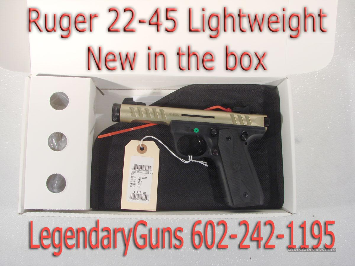 Ruger 22/45 Lite, New in the box  Guns > Pistols > Ruger Semi-Auto Pistols > Mark I & II Family