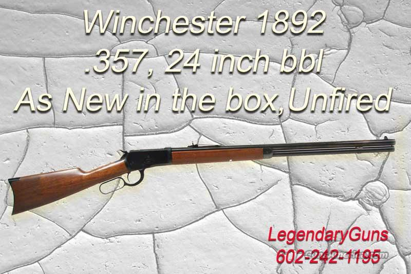 (2) Winchester 1892 .357 24 inch Rnd BBL  Guns > Rifles > Winchester Rifles - Modern Lever > Other Lever > Post-64