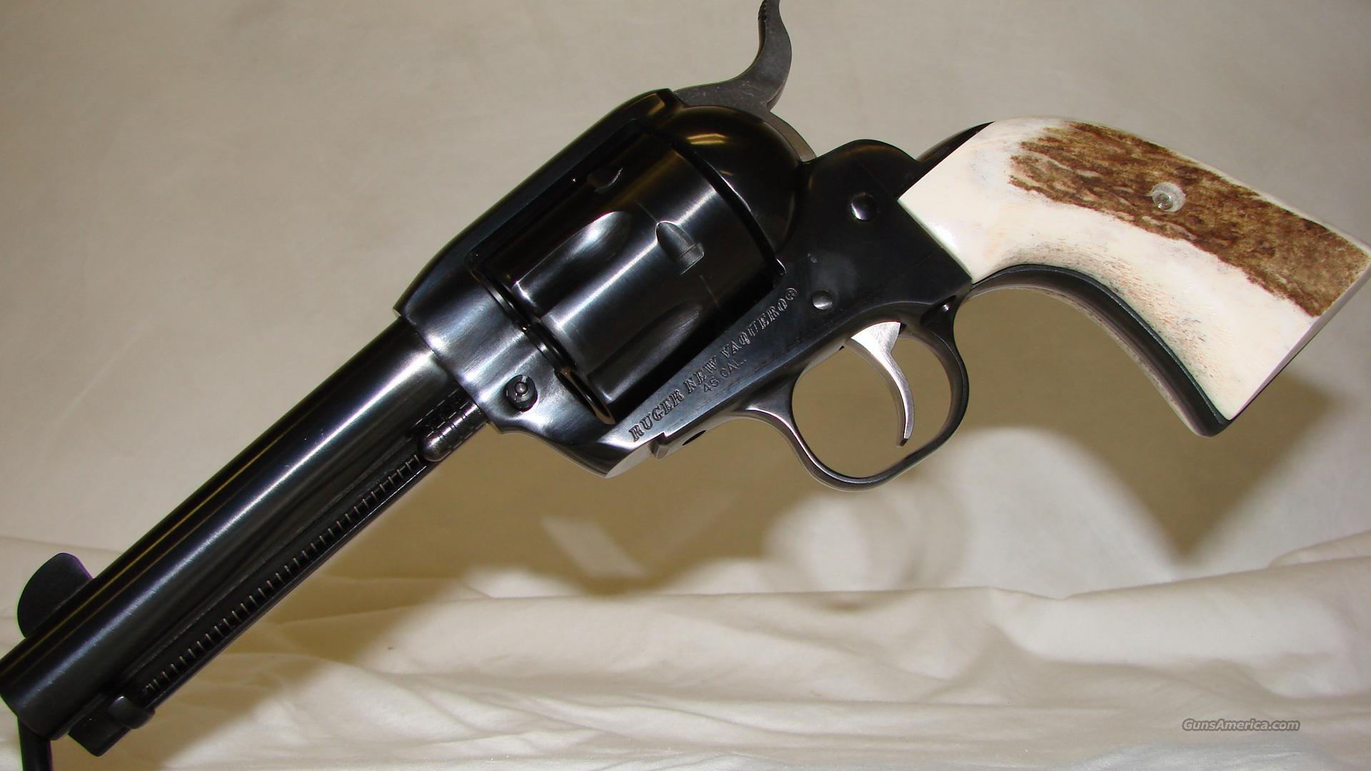 Ruger New Vaquero SAA Genuine Elk Stag Grips  Guns > Pistols > Ruger Single Action Revolvers > Cowboy Action