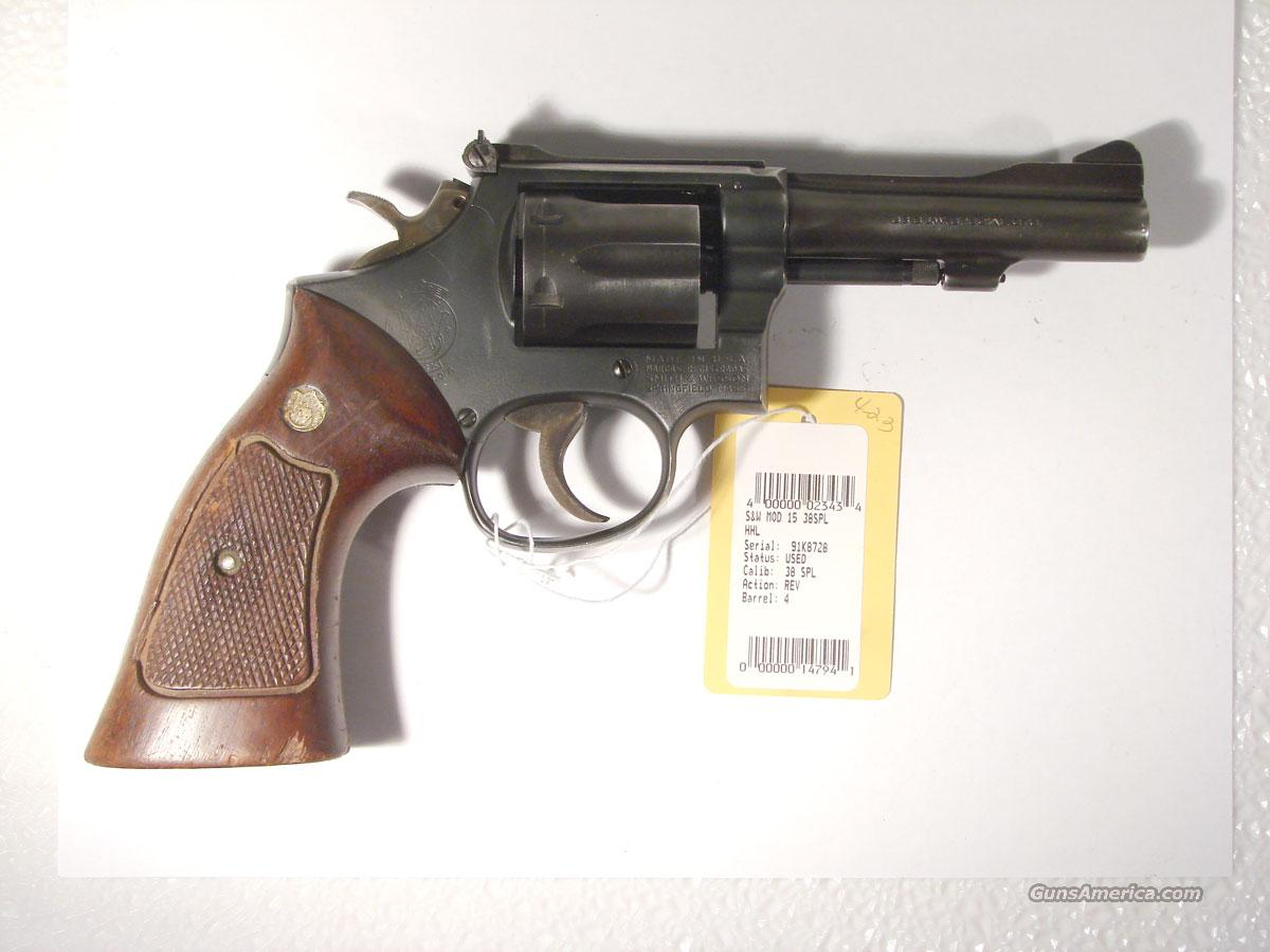 S&W Model 15-4 4 inch blue .38 Special  Guns > Pistols > Smith & Wesson Revolvers > Full Frame Revolver