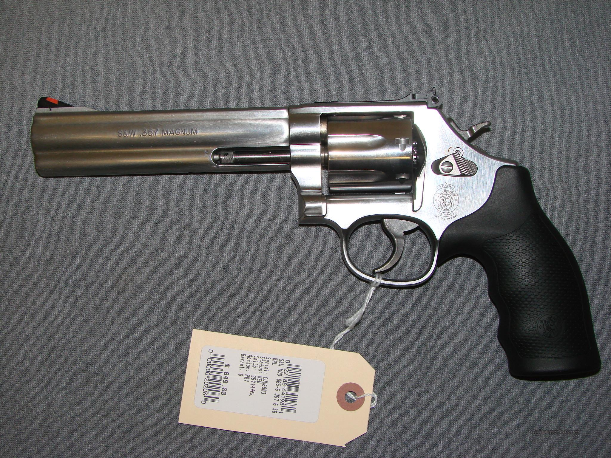 Smith&Wesson 686-6  Guns > Pistols > Smith & Wesson Revolvers > Full Frame Revolver