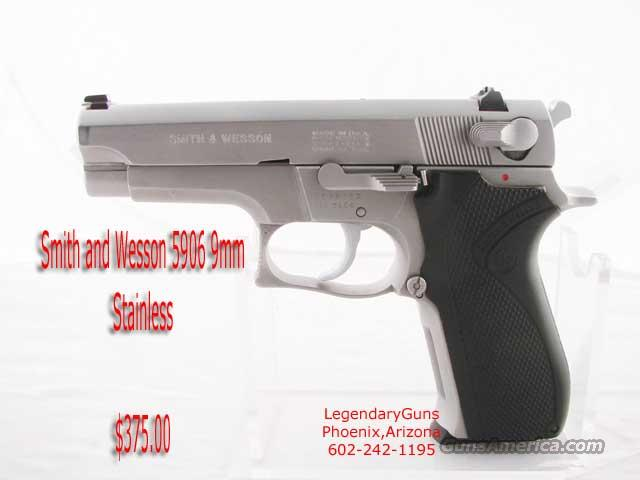 S&W 5906 Stainless 9mm  Guns > Pistols > Smith & Wesson Pistols - Autos > Steel Frame