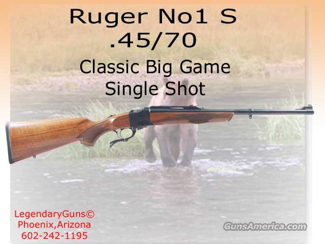 Ruger #1 45/70 S  Guns > Rifles > Ruger Rifles > #1 Type