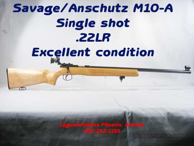 Savage/Anschutz, Model 10 Single Shot  Guns > Rifles > Anschutz Rifles