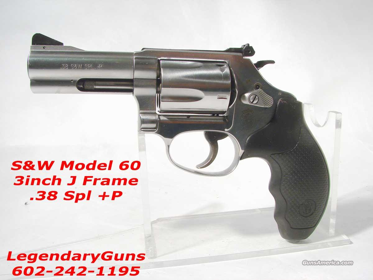 S&W Model 60 .38 Spl Plus 3 inch bbl  Guns > Pistols > Smith & Wesson Revolvers > Pocket Pistols