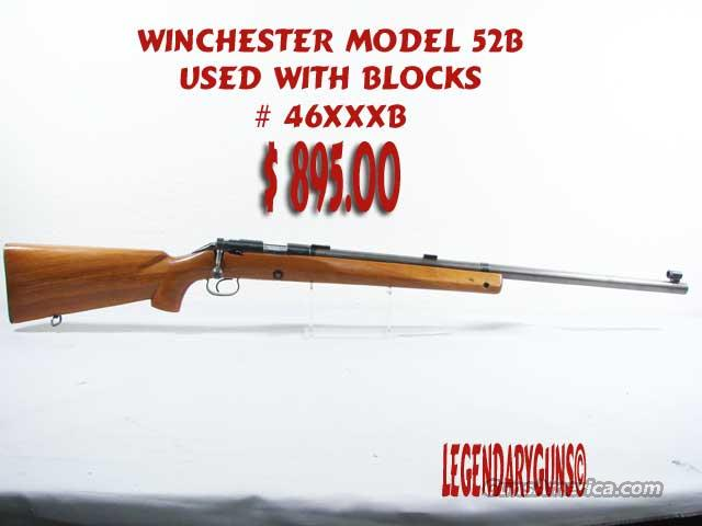 Winchester M-52-b, .22lr  Guns > Rifles > Winchester Rifles - Modern Bolt/Auto/Single > Other Bolt Action