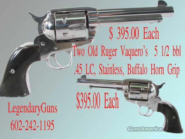 Ruger Stainless Old Vaquero .45LC 5 1/2BBl  Guns > Pistols > Ruger Single Action Revolvers > Cowboy Action